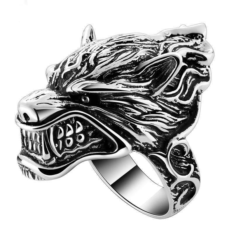 Ring steampunk big wolf