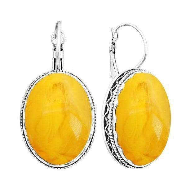 amber and silver earring Victorian
