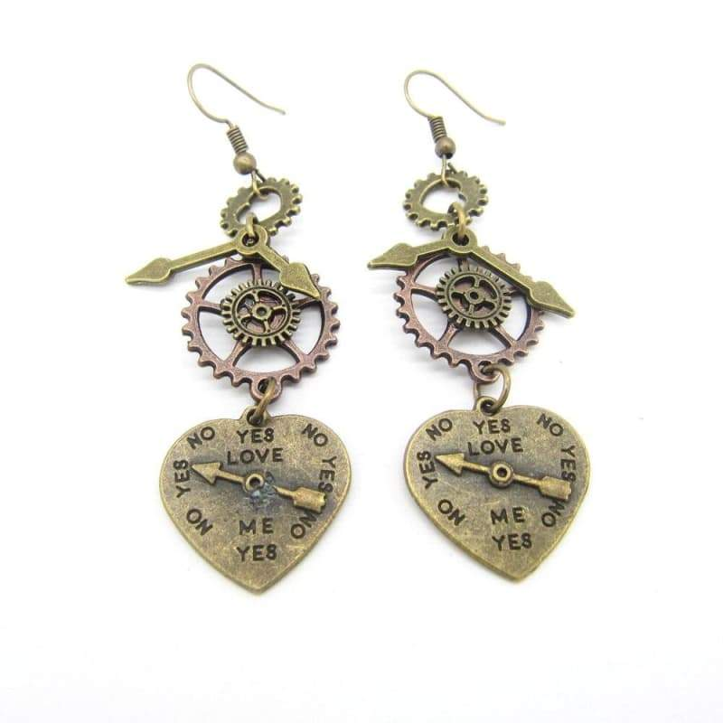 earring heart fancy steampunk store earring renaissance
