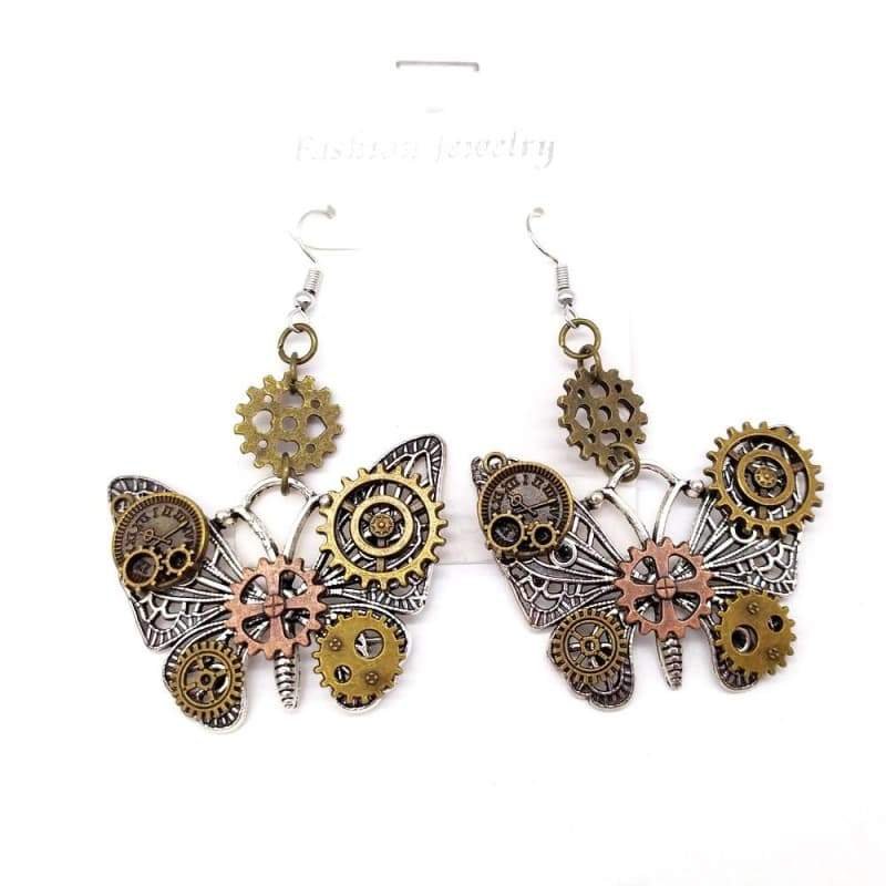 earring butterfly fancy steampunk store earring 2021