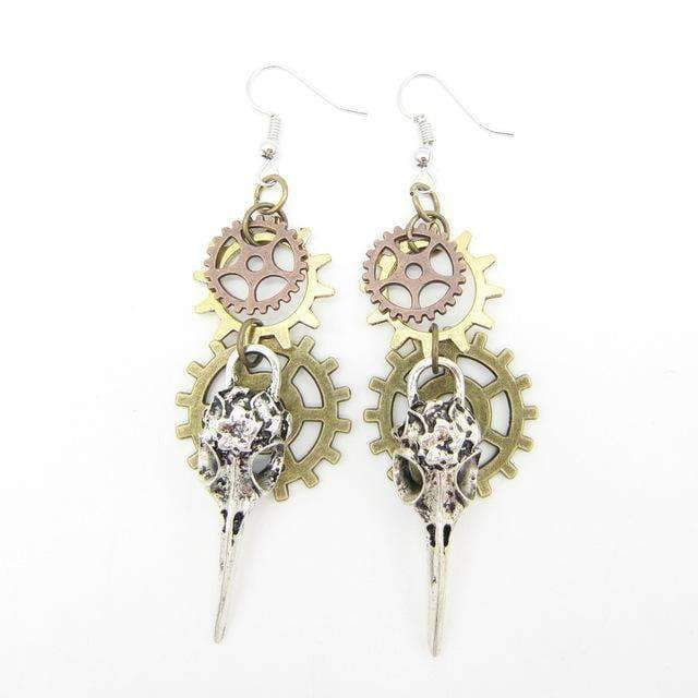 phenix steampunk earrings cosplay