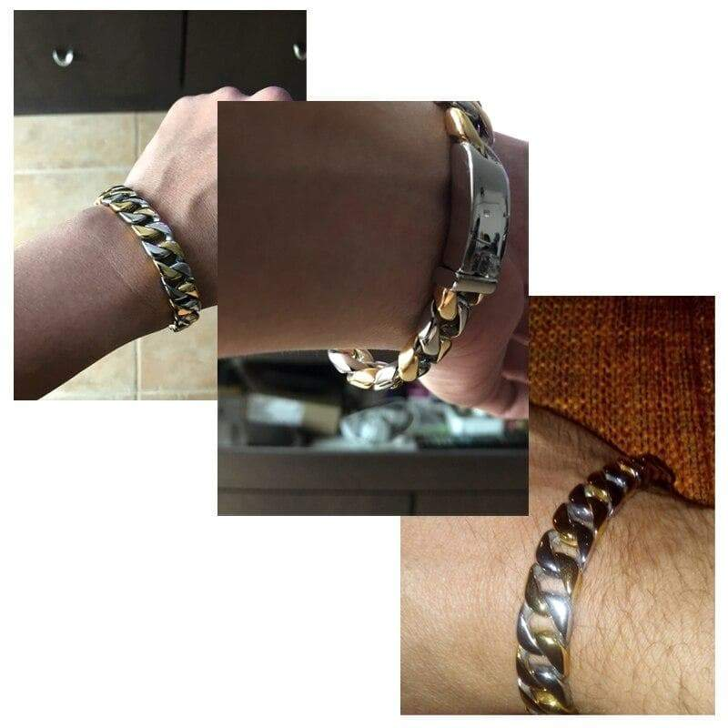 Bracelet steampunk scalded steel