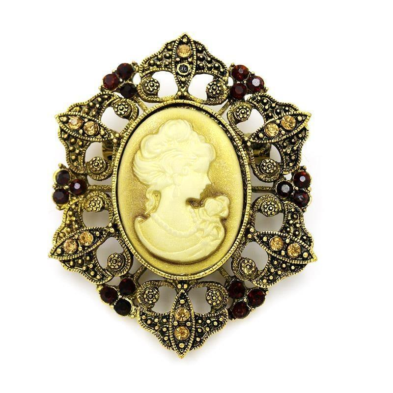 antique cameo brooch Gothic