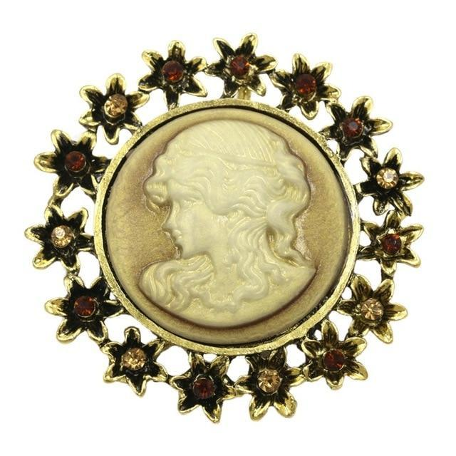 Brooch steampunk cameo