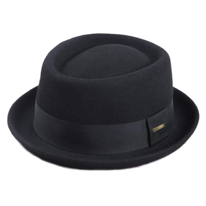 Steampunk fedora hat black