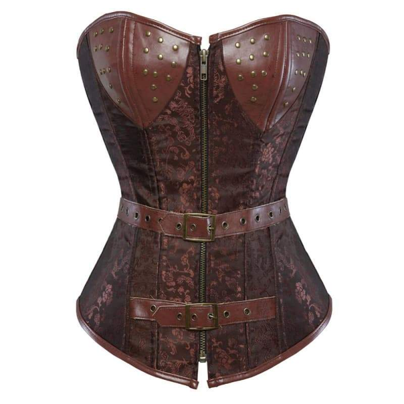 corset cuir femme medieval steampunk store Victorian