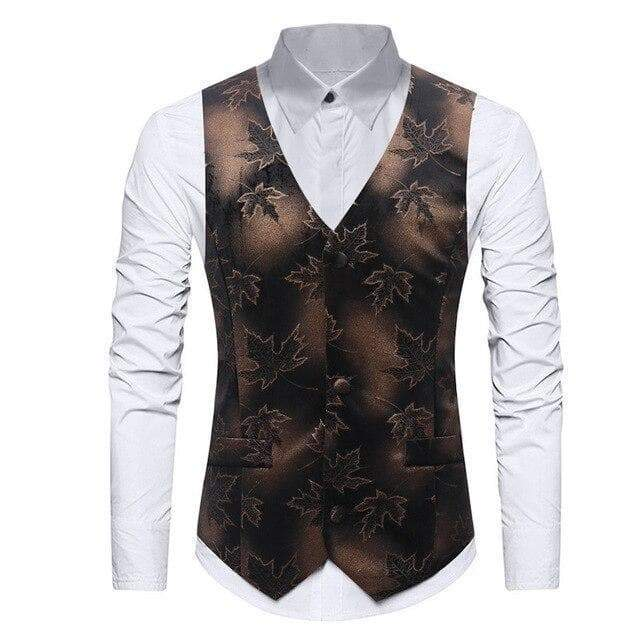 Vest steampunk maple leaves