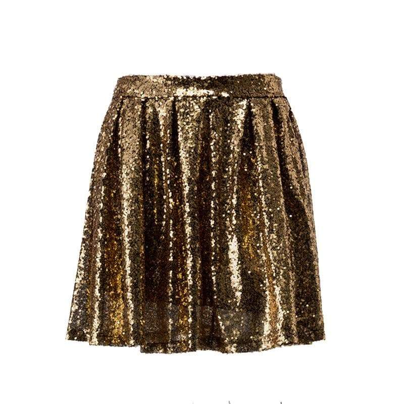 Short golden steampunk skirt