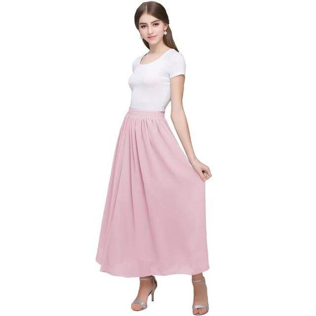 long skirt high waist chiffon steampunk store 2020