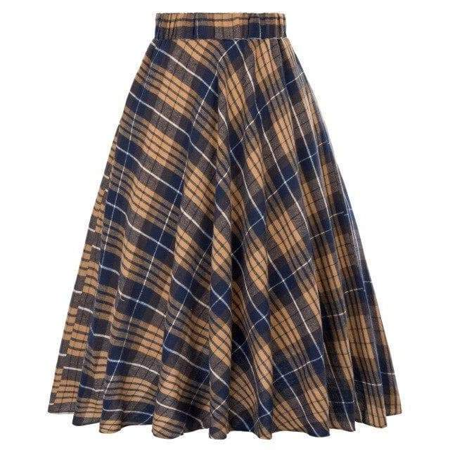 tartan long skirt steampunk store Style