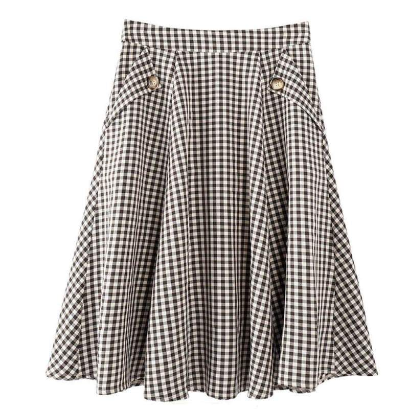 black and white checkered skirt 2020