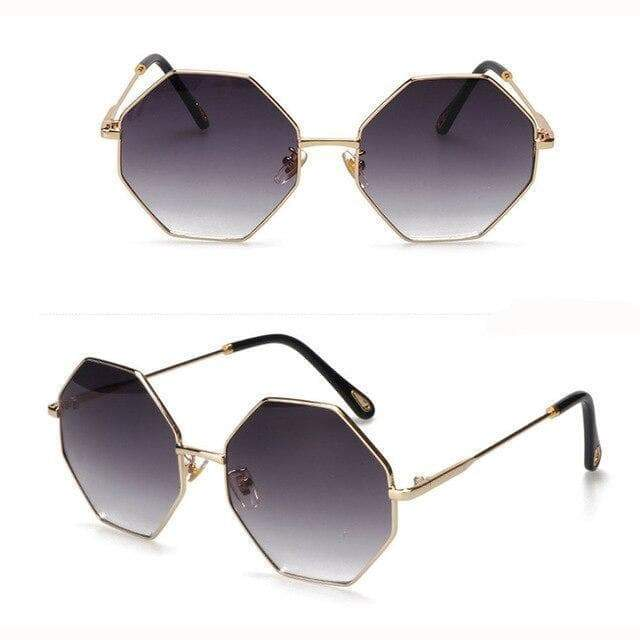 women's hexagonal sunglasses steampunk store Gothic
