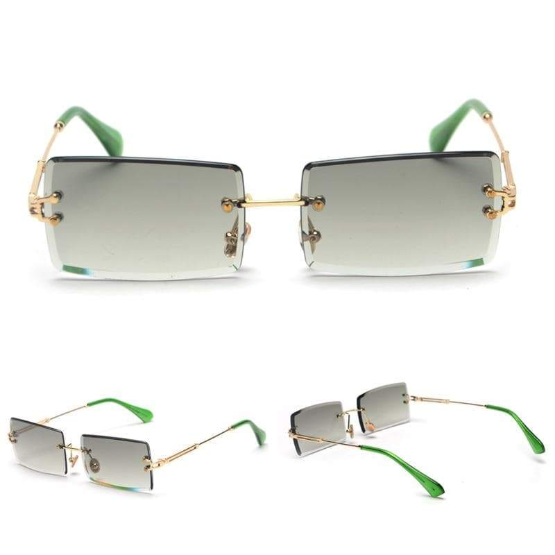 Rectangular steampunk glasses
