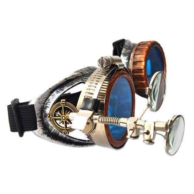 Welder style steampunk glasses