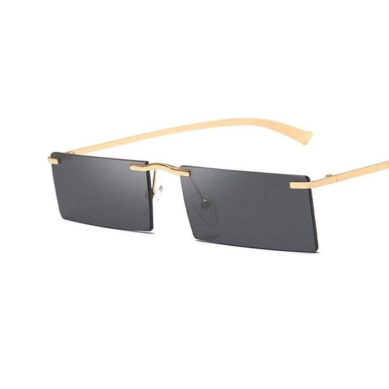 Rectangular sunglasses without frame Gothic