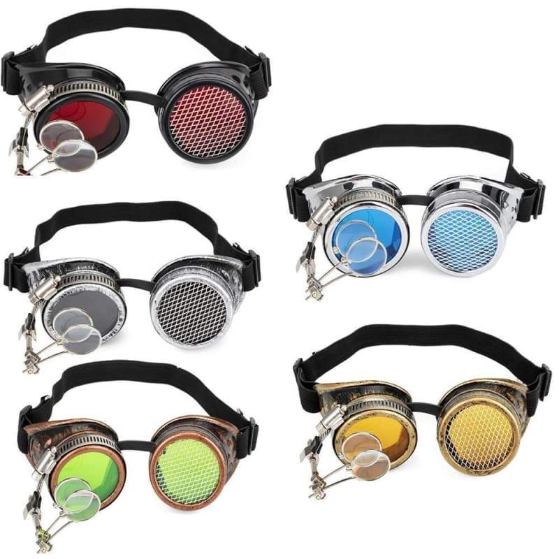 Mad scientist steampunk glasses