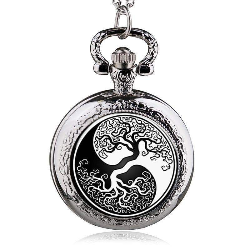 Pocket watch yggdrasil steampunk