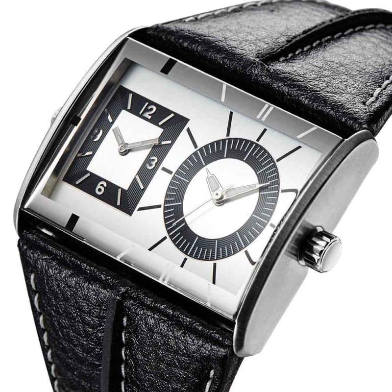 Men's large leather bracelet watch 2020