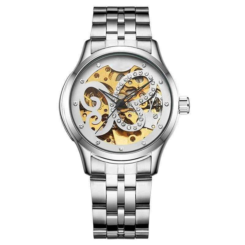 Butterfly skeleton watch