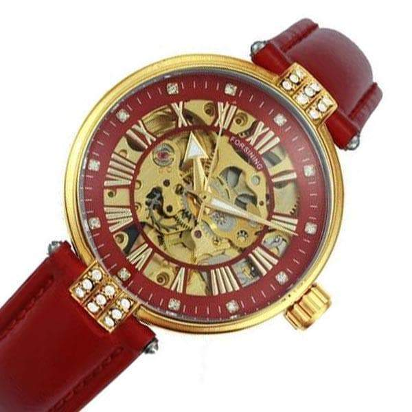Red skeleton watch
