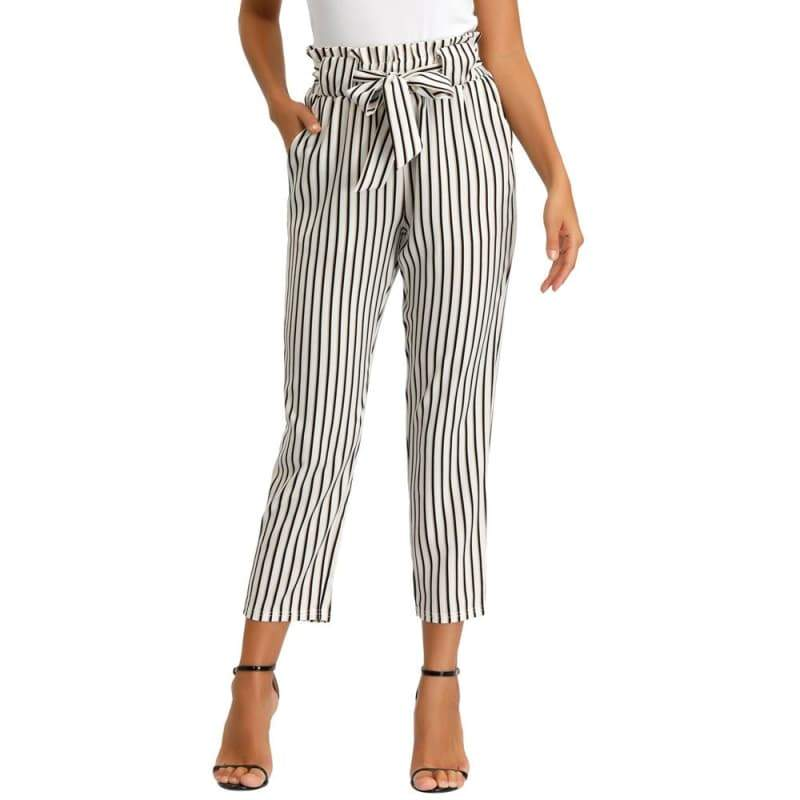 Striped steampunk chino pants