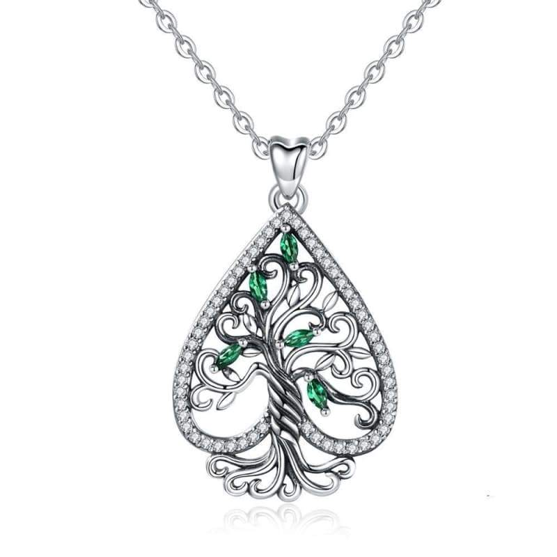 pendant tree of life silver 925 steampunk blind Victorian
