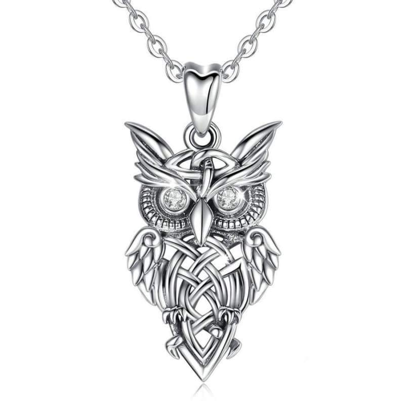 silver owl pendant steampunk store Style