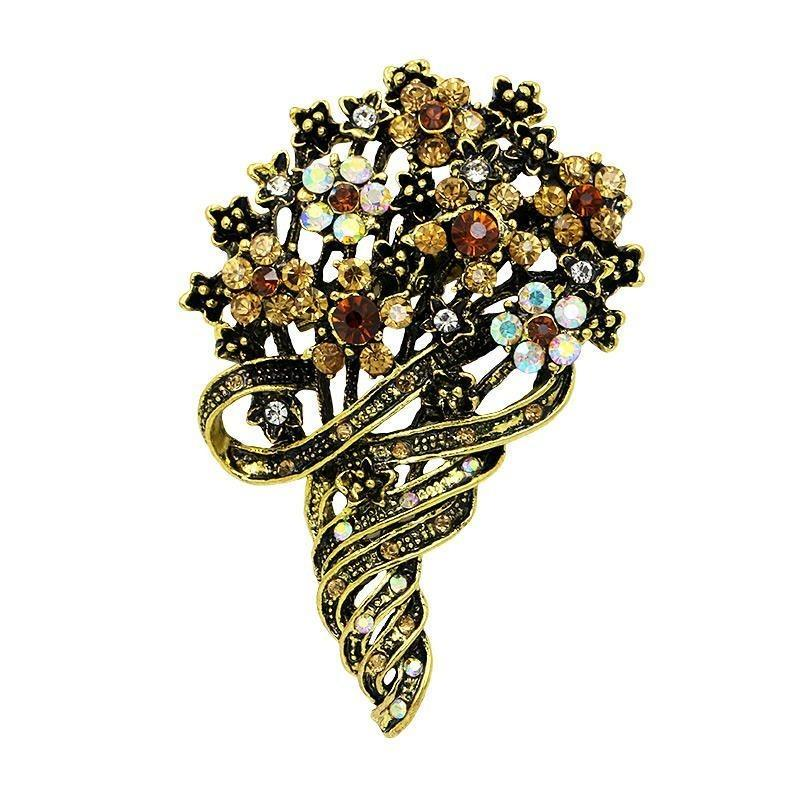 Brooch steampunk country bouquet