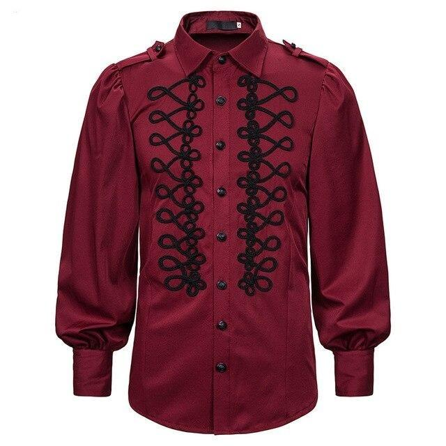 men's shirt long sleeve polyester Dieselpunk