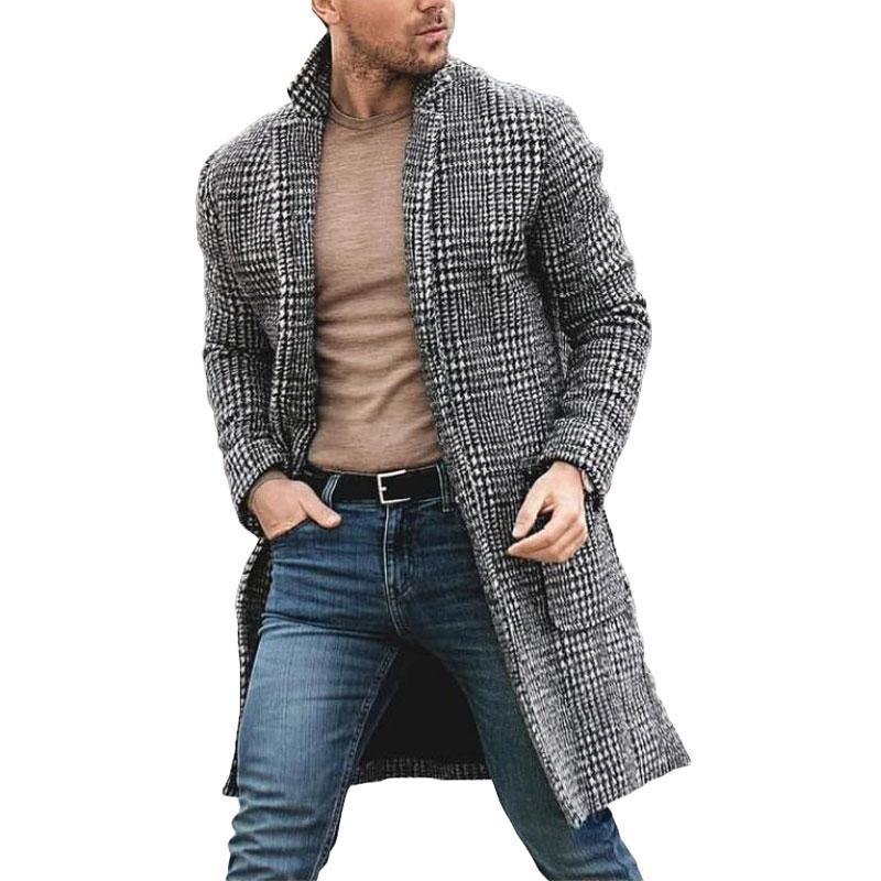 men's checkered long coat renaissance