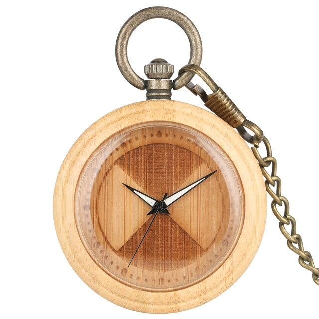Charming wooden pocket watch