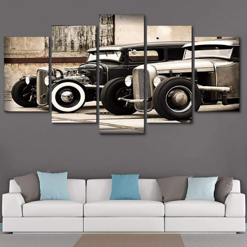 Vintage steampunk cars painting