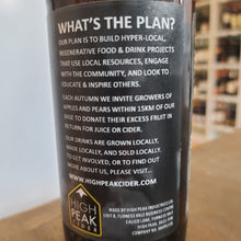 "Load image into Gallery viewer, High Peak Cider ""What's the Plan"" Wild Ferment Dry Cider 6.6% 330ml"