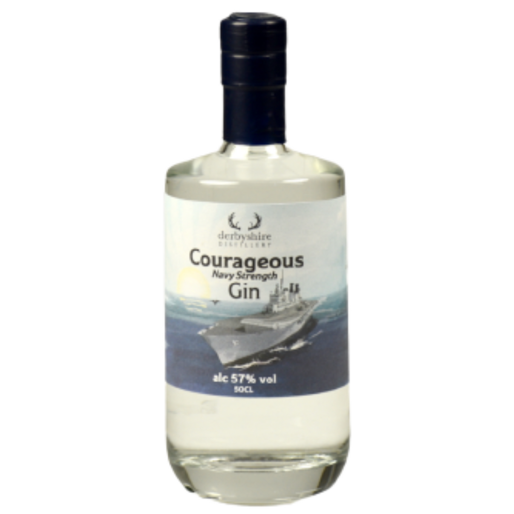 Derbyshire Distillery Courageous Navy Strength Gin 57% 50cl