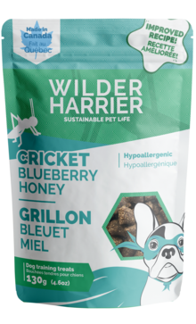 Cricket dog training treat - hypoallergenic