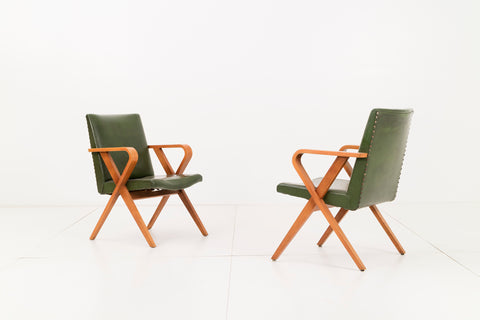 Pair of Henry Glass Armchairs
