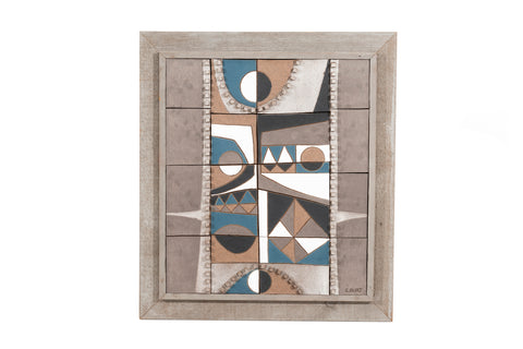 Clyde Burt Abstract Ceramic Wall Plaque