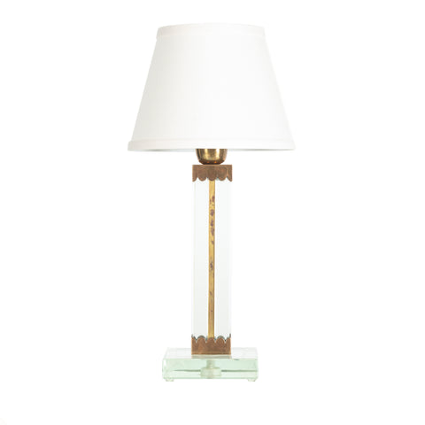 Small Crystal Table Lamp by Arturo Pani