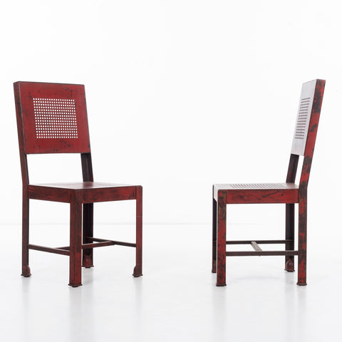 Pair of Frank Lloyd Wright Work Chairs