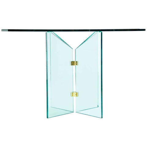 Pace Collection Brass and Glass Table