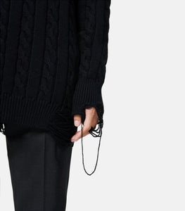 Ripped Cable Sweater