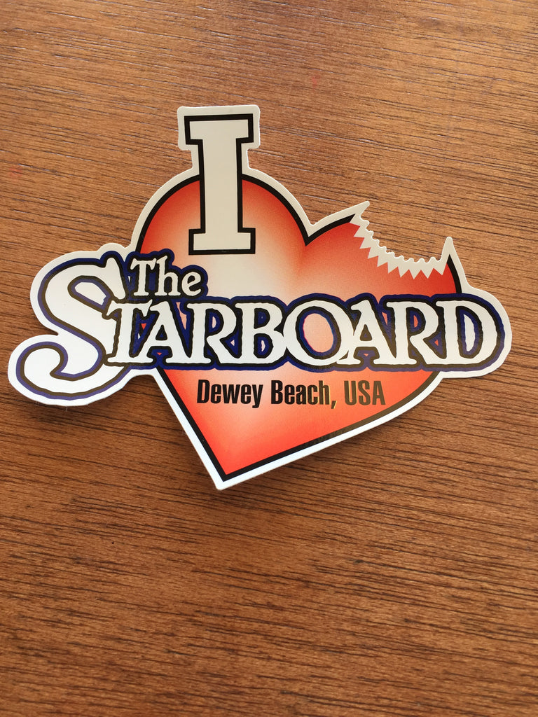 I Love The Starboard Sticker