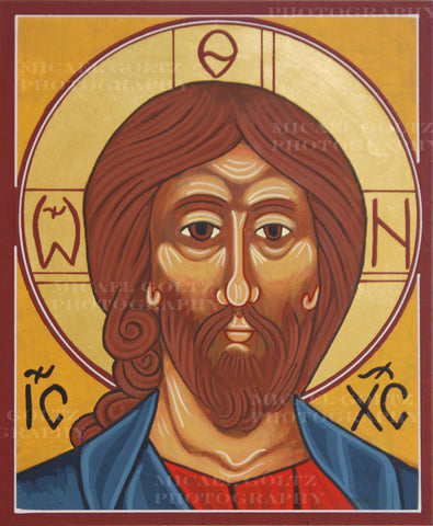 Christ the Lord Almighty (bust) Icon Mounted Print