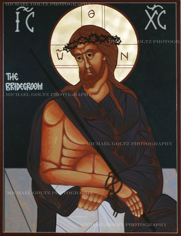 Christ the Bridegroom Icon Mounted Print