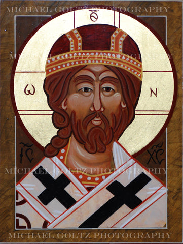 Christ the Great High Priest Icon Mounted Print