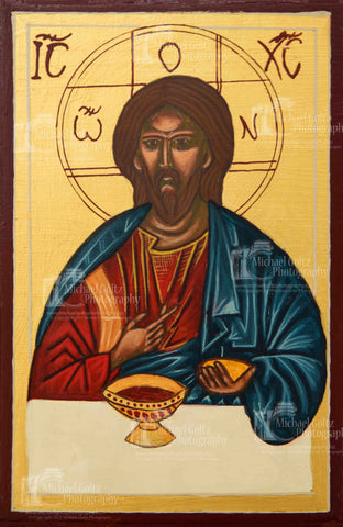 Christ with the Eucharist Icon Print