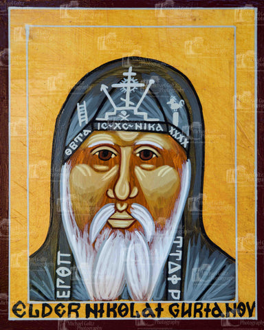 Elder Nikolai Guraniov Icon Mounted Print