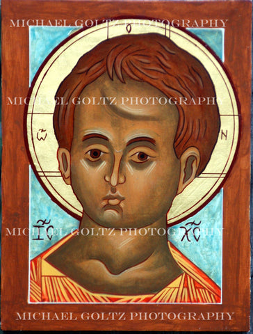 Christ Emmanuel Icon Mounted Print