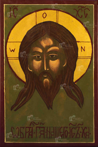 Face of Christ w/o Napkin Handpainted 9x5 1/2 Icon
