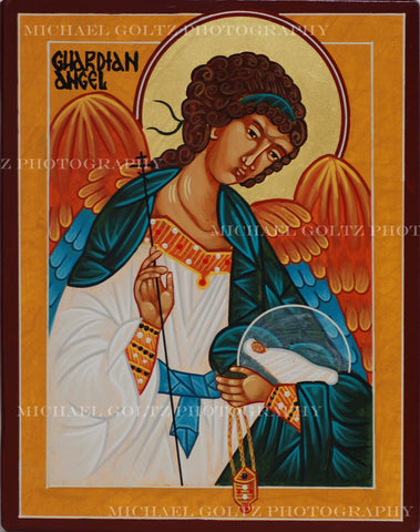 Guardian Angel Icon Mounted Print